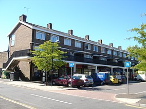 Southgate, West Sussex - Image: Shopping Parade, Southgate