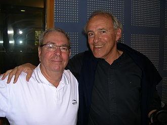 Mordechai Spiegler - Mordechai Spiegler (right) and sportscaster Yoram Arbel