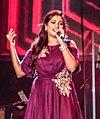 Shreya Ghoshal performing at a Concert in Bangalore, Feb 2018.jpg