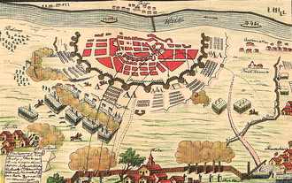 Siege of Warsaw (1794) - 19th century plan of the siege of Warsaw.