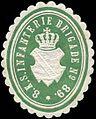 Siegelmarke 8. Königlich Sächsische Infanterie Brigade No. 89. W0260353.jpg