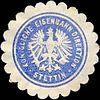 Siegelmarke Königliche Eisenbahn Direktion - Stettin W0213002.jpg