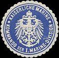 Siegelmarke K. Marine Kommando der I. Marine-Division W0337689.jpg