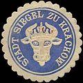 Siegelmarke Stadt Siegel zu Krackow W0310647.jpg