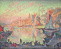 Paul Signac, The Port of Saint-Tropez, oil on canvas, 1901.