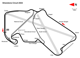 2003 British Grand Prix - Silverstone Circuit in its 2003 configuration