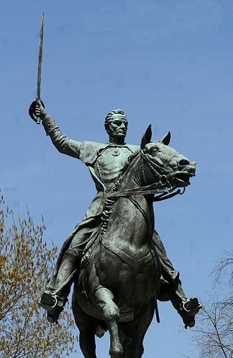 Military career of Simón Bolívar - Equestrian statue of Simón Bolívar