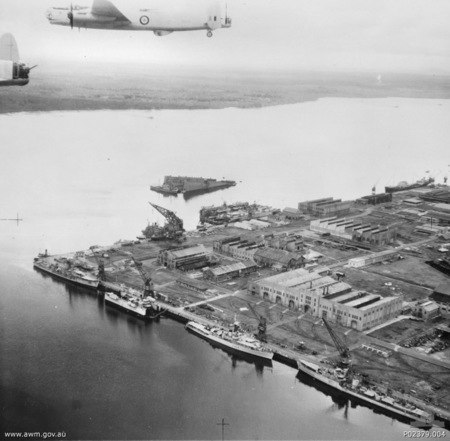 Singapore Naval Base June 1953