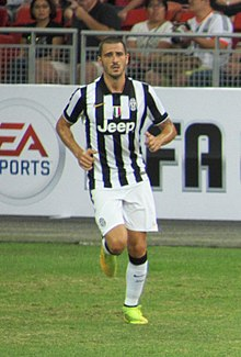 Bonucci in bianconero nel 2014, nell'amichevole di Singapore contro una selezione locale