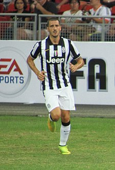 Leonardo Bonucci has often functioned as a ball-playing centre-back throughout his career. Singapore Selection vs Juventus - 2014 - Leonardo Bonucci.jpg