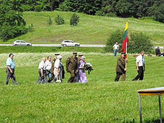 Forest Brothers - Lithuanian partisan veterans in 2009 at 65th anniversary of Battle of Tannenberg Line