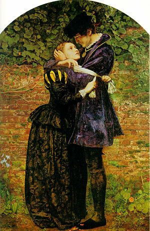 Sir John Everett Millais. A Huguenot, on St. Bartholomew's Day Refusing to Shield Himself from Danger by Wearing the Roman Catholic Badge..jpg