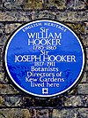 Sir WILLIAM HOOKER 1785-1865 Sir JOSEPH HOOKER 1817-1911 Botanists Directors of Kew Gardens lived here.jpg