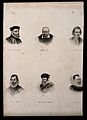Six portraits of eminent sixteenth century men. Engraving. Wellcome V0006831.jpg