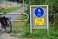 Skyltning av Trafikverkets cykelled.JPG