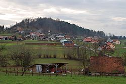 Landscape of Lower Carniola in Slepšek.