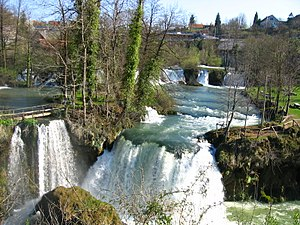 Slunj, Rastoke, waterfalls of the Slunjcica river