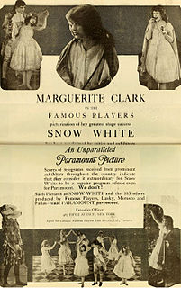<i>Snow White</i> (1916 film) 1916 American silent romantic fantasy film directed by J. Searle Dawley