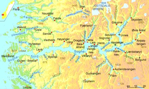 fiordes noruega mapa Fiorde de Sogn – Wikipédia, a enciclopédia livre fiordes noruega mapa