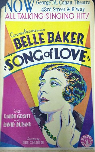 Song of Love (1929 film) - Window poster
