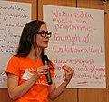 Sophie presenting vision exercise - Program Evaluation & Design - Stierch.jpg