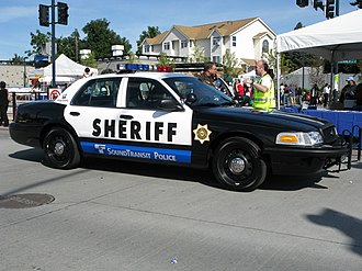 Sound Transit - King County Sheriff's Office patrol car in Sound Transit Police livery.