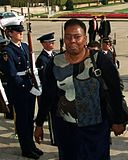 South African Deputy Defense Minister Nozizwe Madlala-Routledge walks into the Pentagon on Oct. 16, 2000.jpg