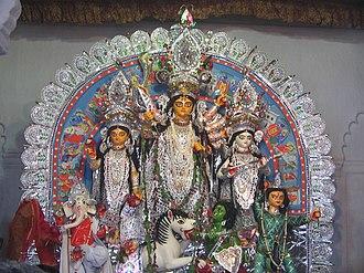 Shobhabazar Rajbari - Image: Sovabazar Durga