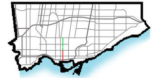 Spadina Avenue thoroughfare in Toronto, Ontario