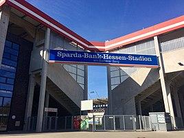 The Sparda Bank Hessen Stadium in Bieberer Berg, home of Kickers Offenbach