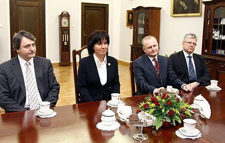 Joanna Agacka Indecka With The Presidium Of Polish Bar Council Members 2008