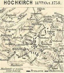 Map showing disposition of forces during the battle