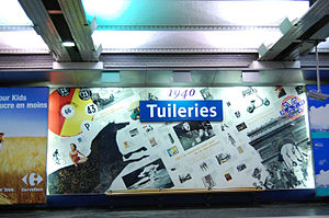 Tuileries (Paris Métro) - Image: Sstation tuileries