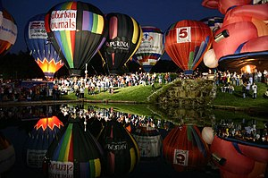 Great Forest Park Balloon Race - Balloon Glow in September 2005