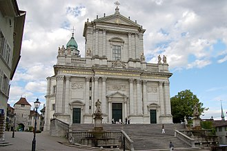 Solothurn Cathedral - Western facade of the church
