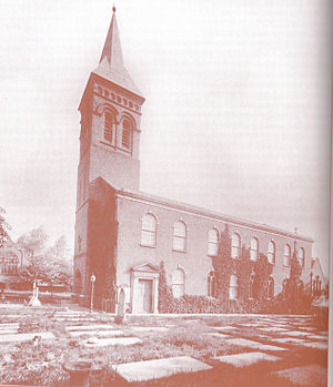 St George's Church, Altrincham - Picture of St George's Altrincham from the south in 1895.