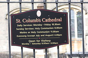 St Columb's Cathedral - St Columb's Cathedral, August 2009