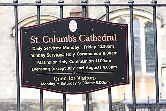 St Columb's Cathedral - St Columb's Cathedral, August 2009