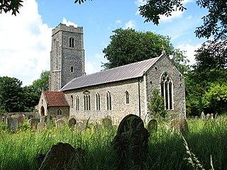 Swardeston village in Norfolk, Britain