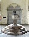 St Mary the Virgin, West Walton, Norfolk - Font - geograph.org.uk - 321155.jpg