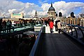 St Paul's Cathedral, behind Millennium Bridge - panoramio.jpg