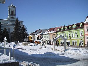 Poprad - Central Poprad during winter
