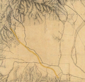 Stage Route Rancho Encino to Santa Susana Pass Hall Map 1880.png