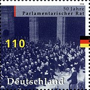 Stamp Germany 1998 MiNr1986 Parlamentarischer Rat