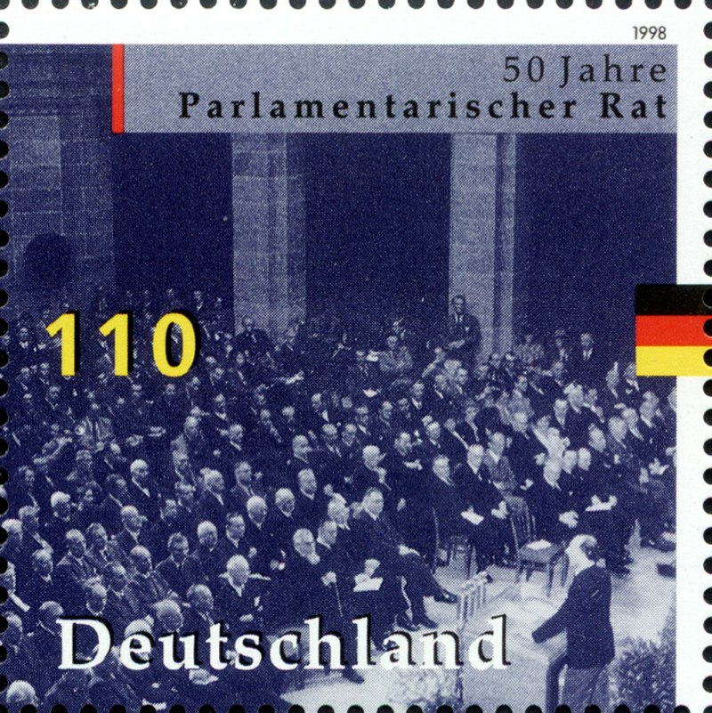 Stamp Germany 1998 MiNr1986 Parlamentarischer Rat.jpg