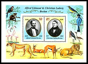 Christian Ludwig Brehm - Stamps from DDR, 1989