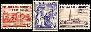 Postage stamps and postal history of Free City of Danzig - Post stamps of Polish Postal Service in the Free City of Danzig