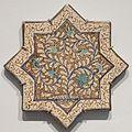 Star tile from Iran, Ilkhanid period, Honolulu Museum of Art VI.JPG