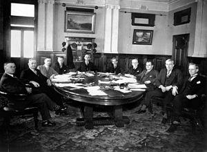 William Forgan Smith - Smith and cabinet, ca 1932