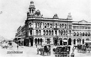 Henry Hunter (architect) - The Queensland Deposit Bank building in 1903.